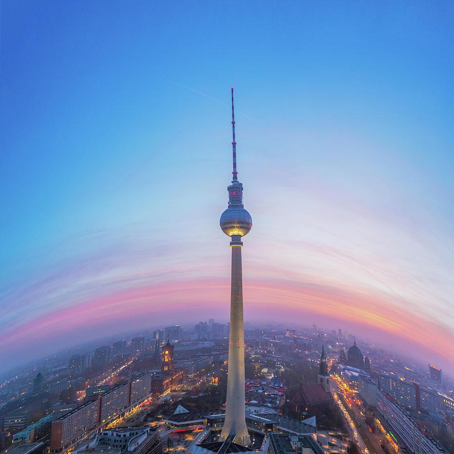 Berlin Tv Tower Photograph by Deimagine