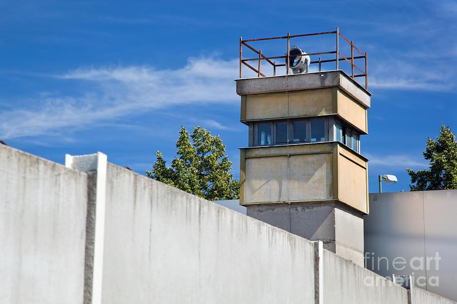 Berlin Photograph - Berlin Wall Memorial A Watchtower In The Inner Area by Michal Bednarek