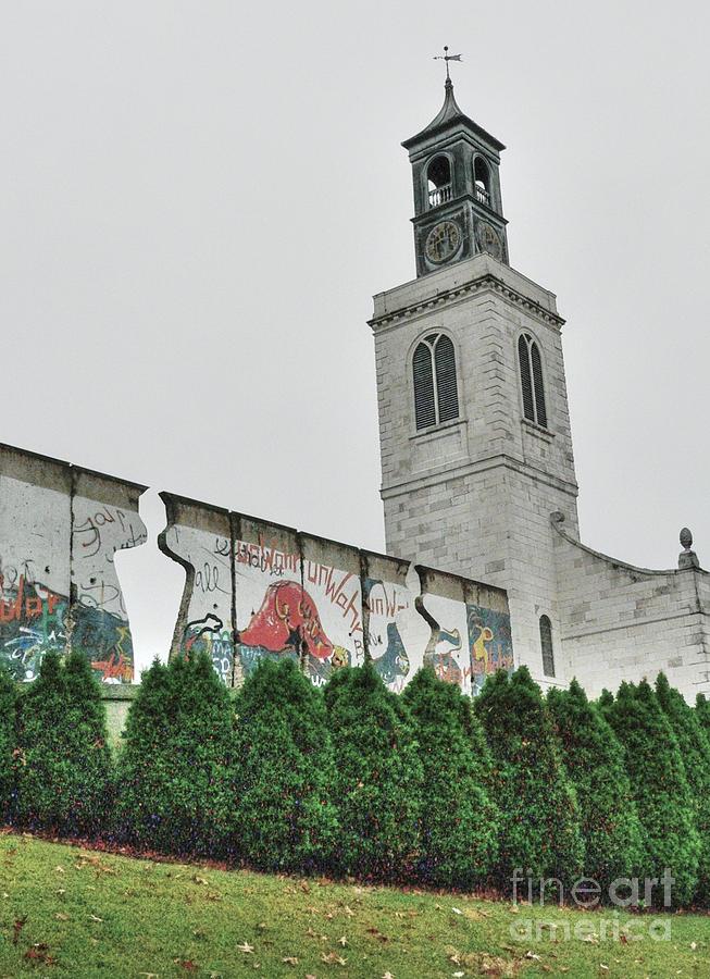 Winston Churchill Photograph - Berlin Wall Segment by David Bearden