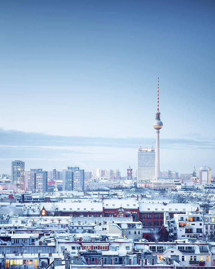 Berlin Winter Cityscape Photograph by Spreephoto.de