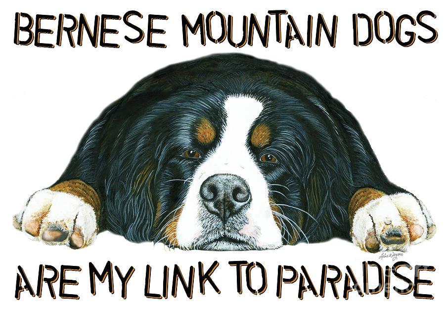 Bernese Mountain Dog Painting - Bernese Mountain Dog Paradise by Liane Weyers