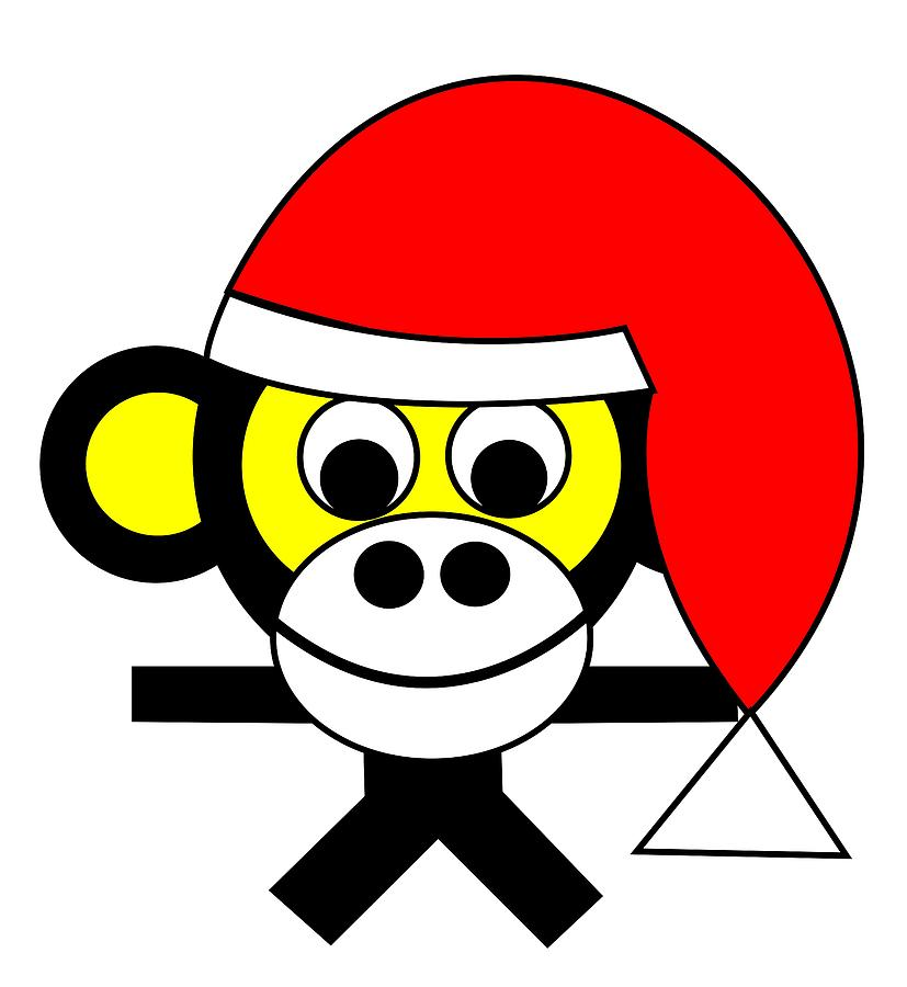 Bernhard wishes you a Merry Christmas Digital Art by Asbjorn Lonvig
