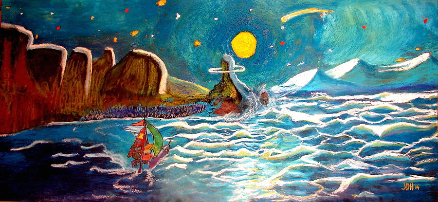 Story Drawing - Bernie And Joe Skull Island by Joseph Hawkins