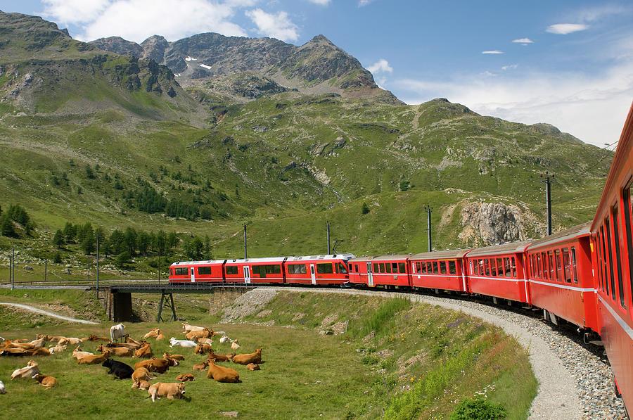 Bernina Express Photograph by Patrickhutter