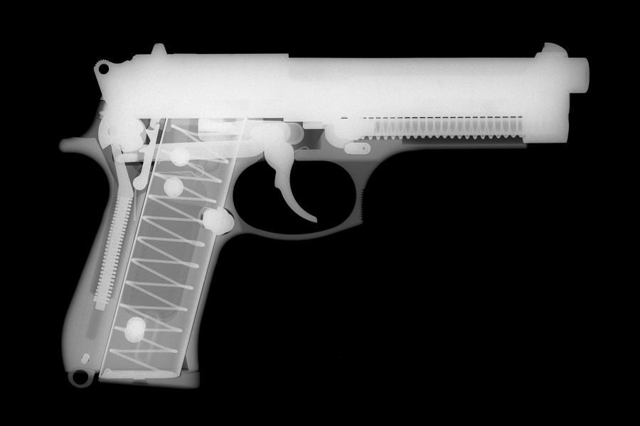 Antique Firearms Photograph - Berretta 9mm by Ray Gunz