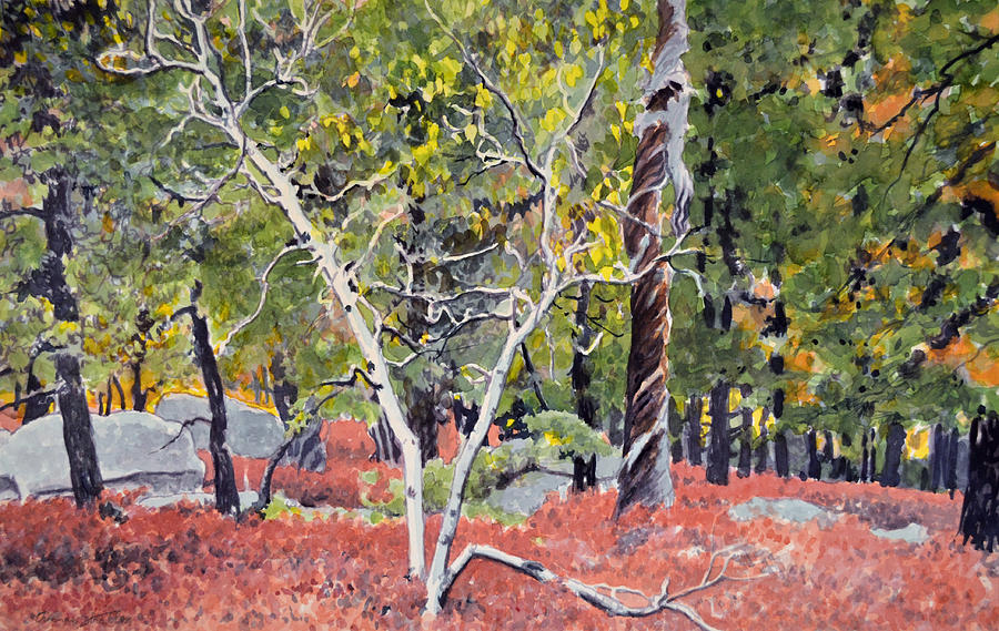 Landscape Painting - Berry Flats In Fall by Thomas Stratton