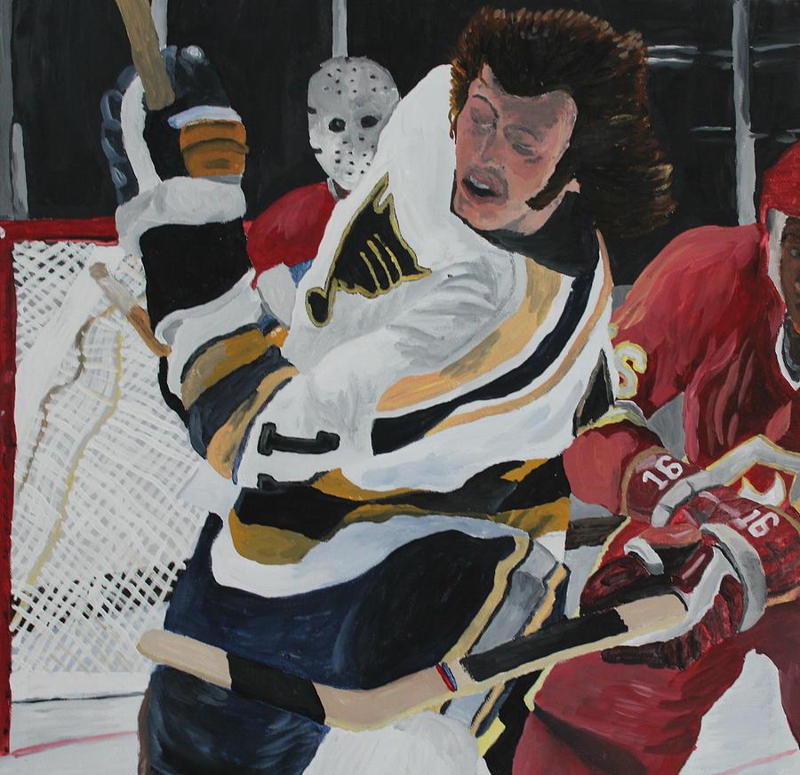 Hockey Painting - Bert Wilson  by Aidan Squirrell