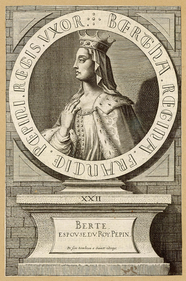 Berthe Drawing - Berthe,  Queen Of Pepin Le Bref, King by Mary Evans Picture Library