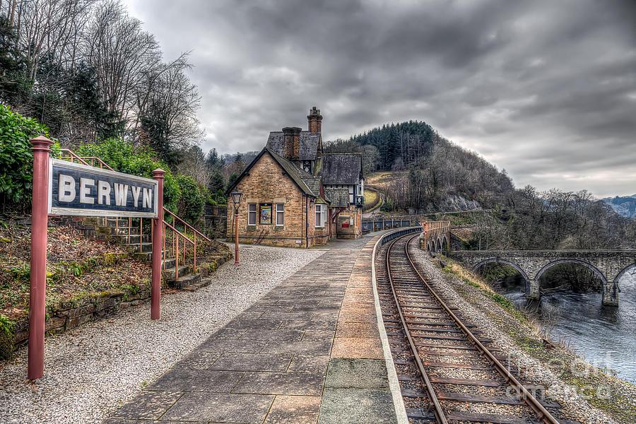 Victorian Photograph - Berwyn Railway Station by Adrian Evans