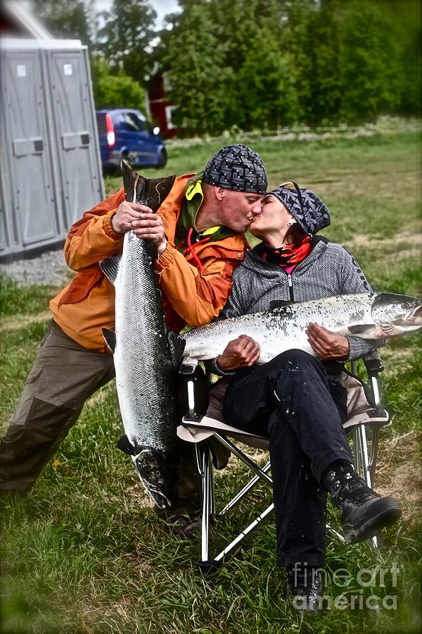 Portrait  Photograph - Besame Mucho . Salmon Love Story. by  Andrzej Goszcz
