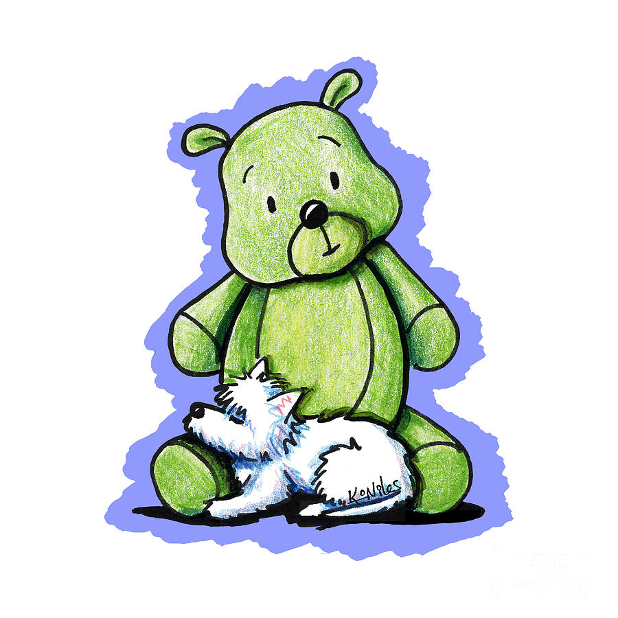 Westie Drawing - Best Buddies Come In All Sizes by Kim Niles