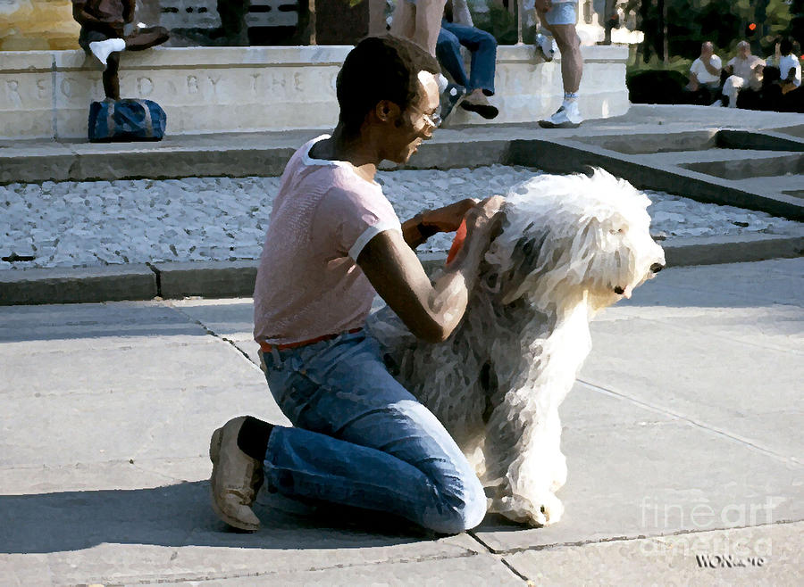 Male Portrait Photograph - Best Friends On Dupont Circle by Walter Neal
