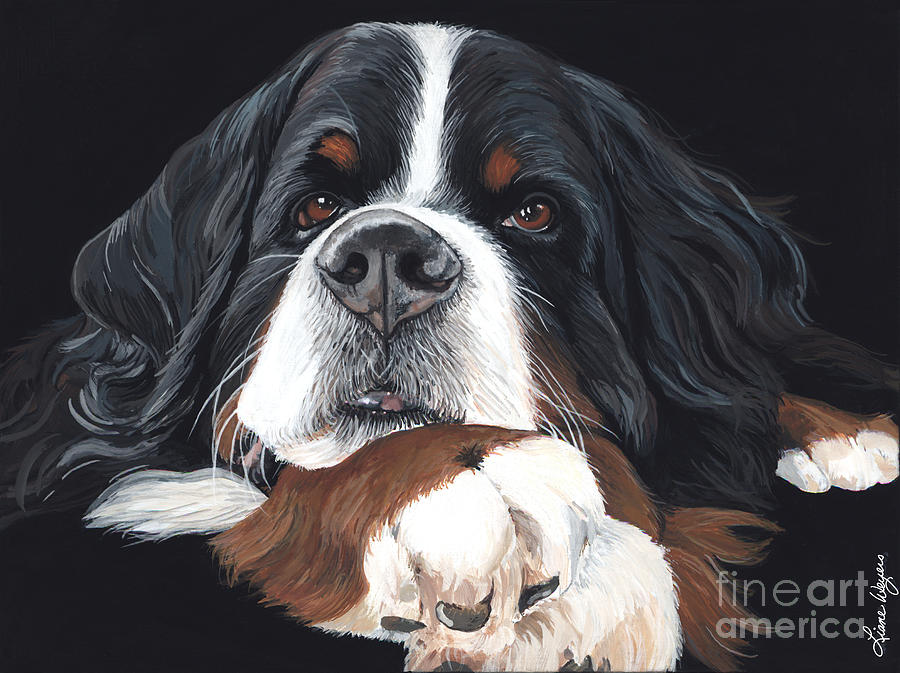 Best In Black Painting by Liane Weyers
