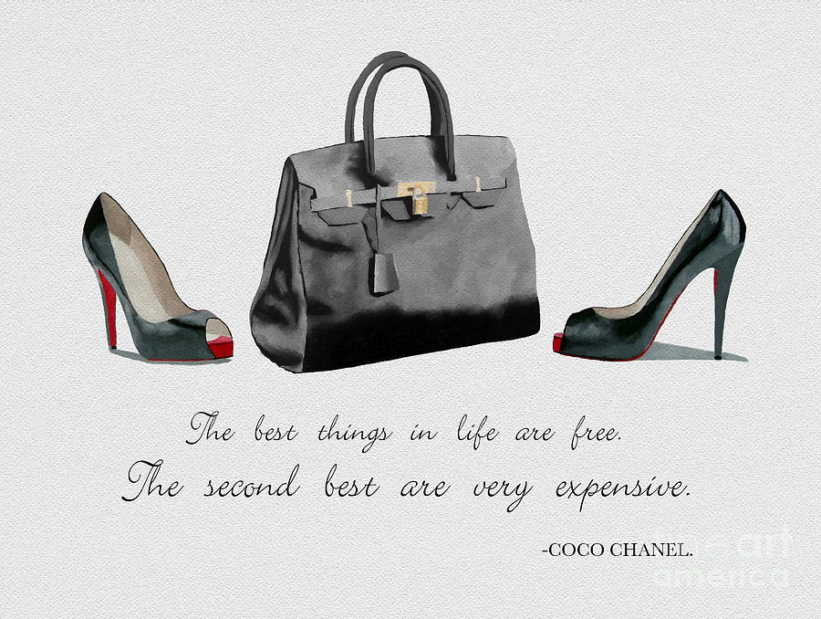Christian Louboutin Mixed Media - Best Things In Life by Rebecca Jenkins