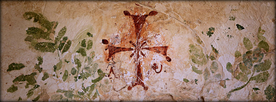 Unesco Photograph - Bet Shean Christian Fresco  by Stephen Stookey