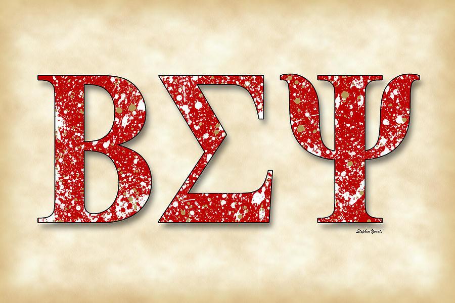 Beta Sigma Psi Digital Art - Beta Sigma Psi - Parchment by Stephen Younts