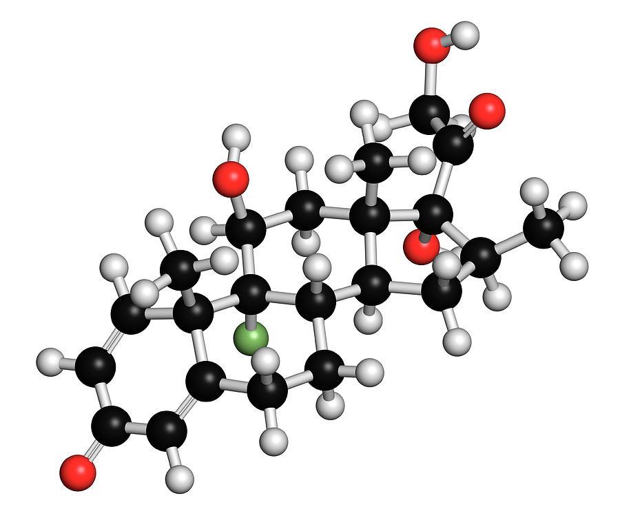 Anti-inflammatory Photograph - Betamethasone Steroid Molecule by Molekuul