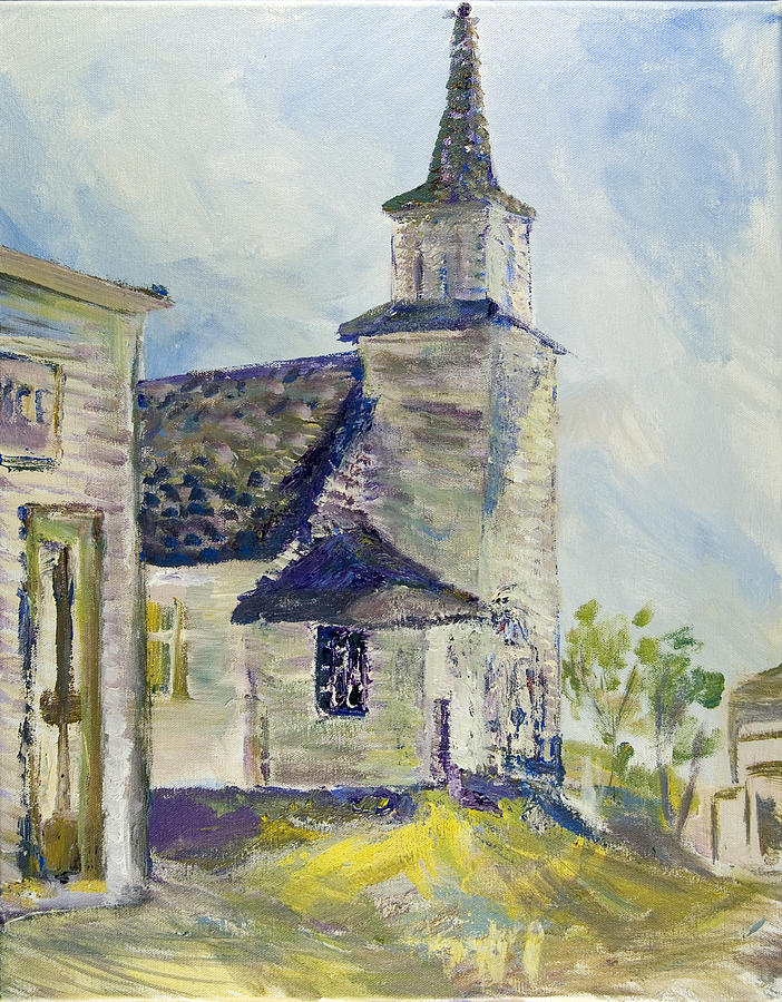 Church Painting - Bethel Church At Buckstop Junction by Helen Campbell