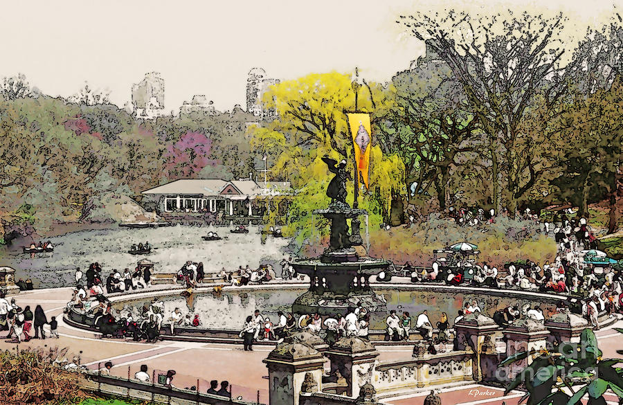 Bethesda Photograph - Bethesda Fountain Central Park Nyc by Linda  Parker