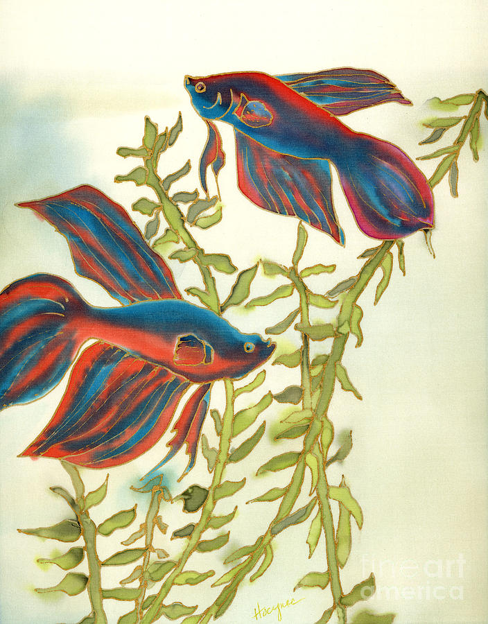 Painting Painting - Betta Splendens by Addie Hocynec