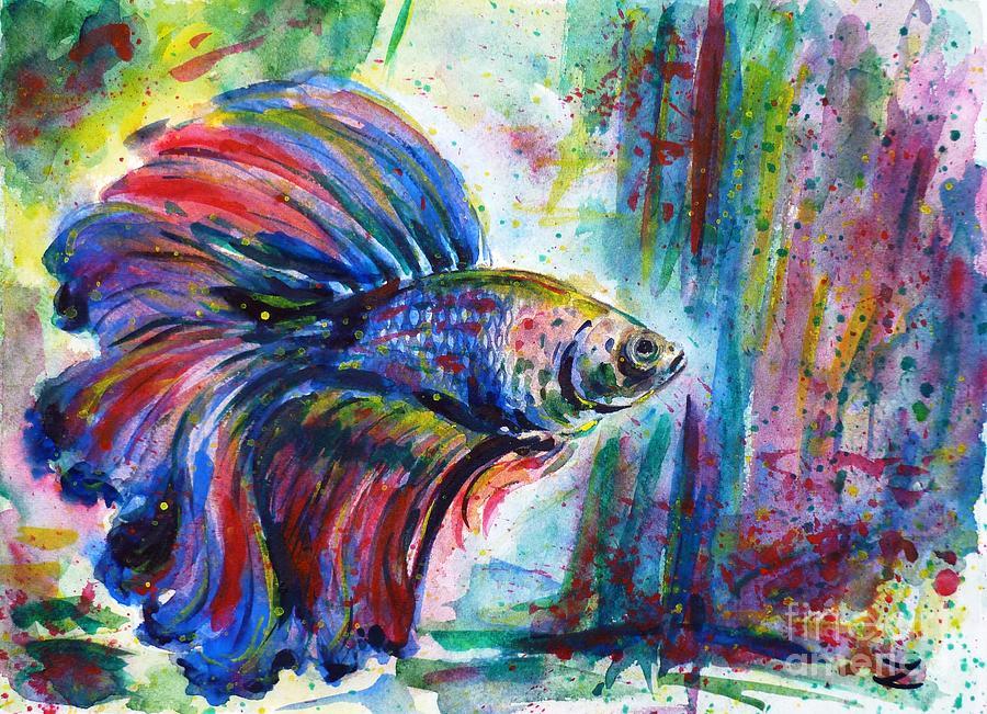 Betta Painting By Zaira Dzhaubaeva