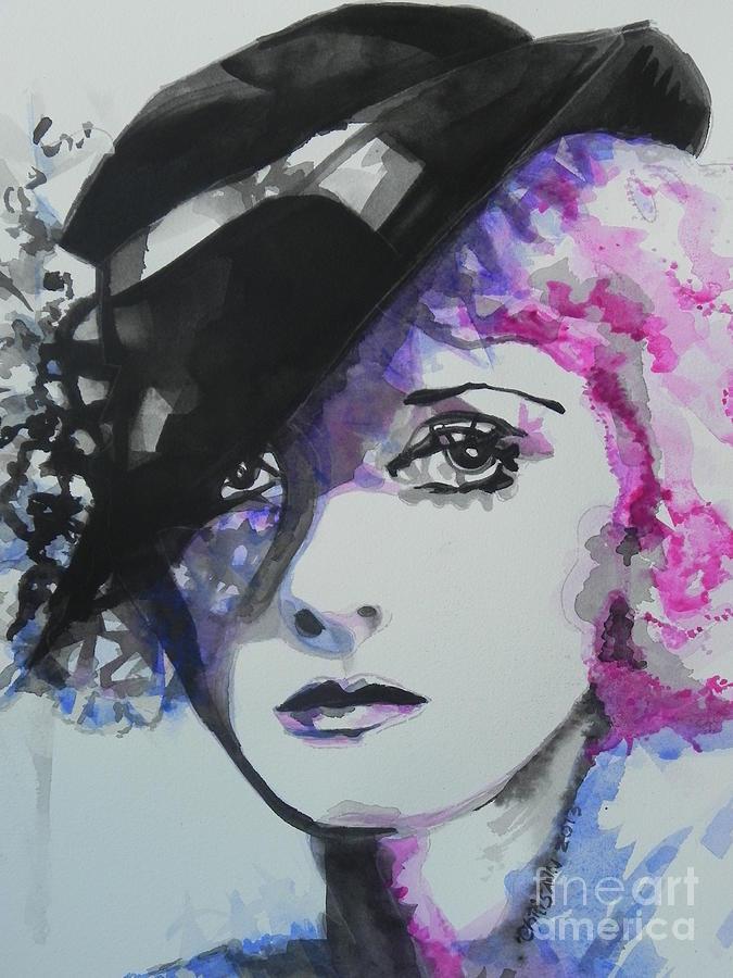 Watercolor Painting Painting - Bette Davis 02 by Chrisann Ellis