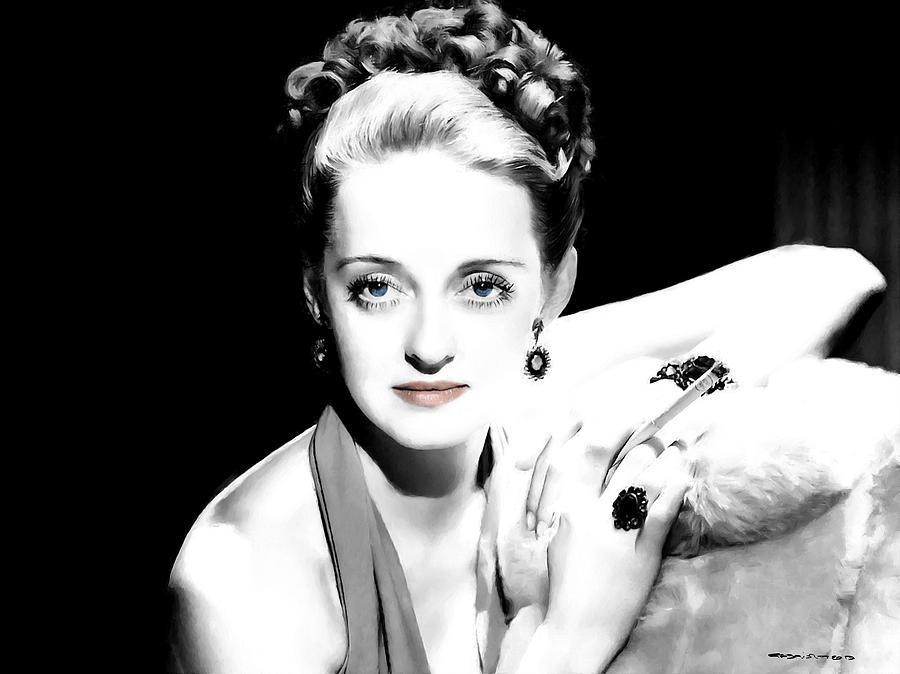 Actress Digital Art - Bette Davis Large Size Portrait by Gabriel T Toro