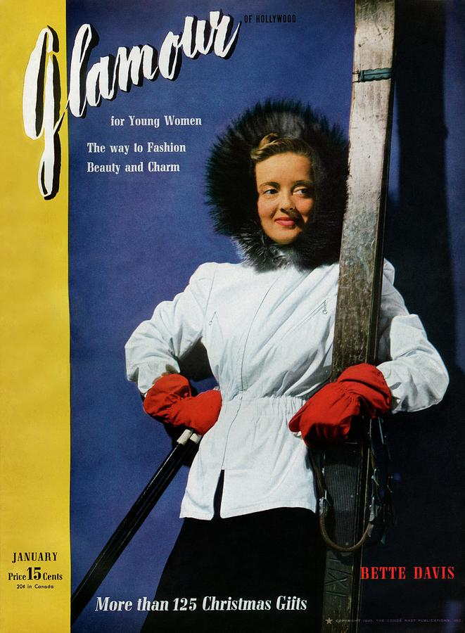 Bette Davis On The Cover Of Glamour Photograph by John Rawlings