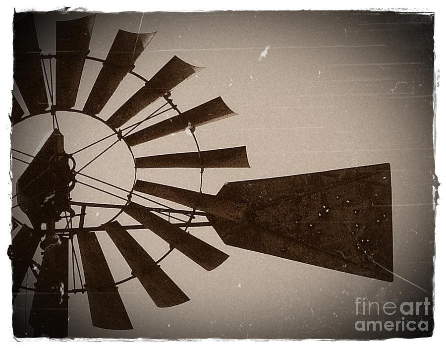 Windmill Photograph - Better Days by Susan Olga Linville