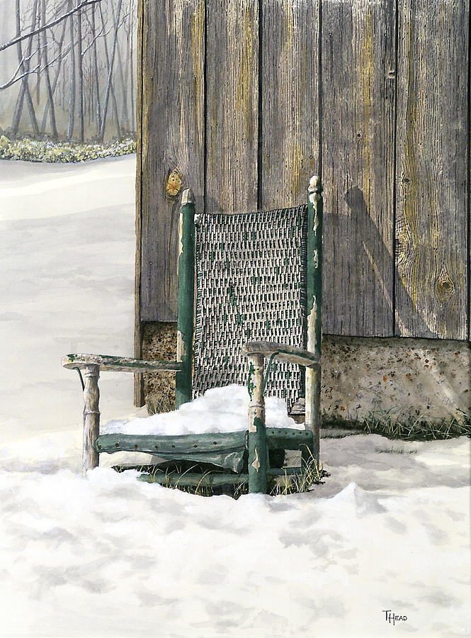 Chair Painting - Better Days - Winter by Ted Head