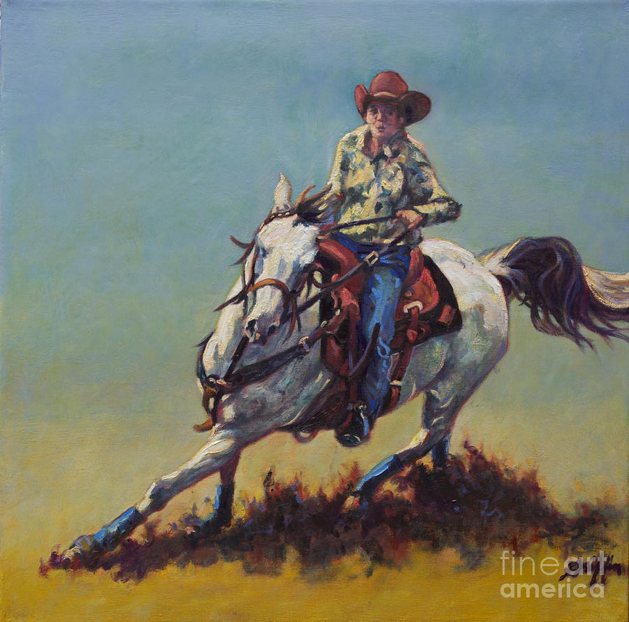 Betty Jean Painting By Patricia A Griffin