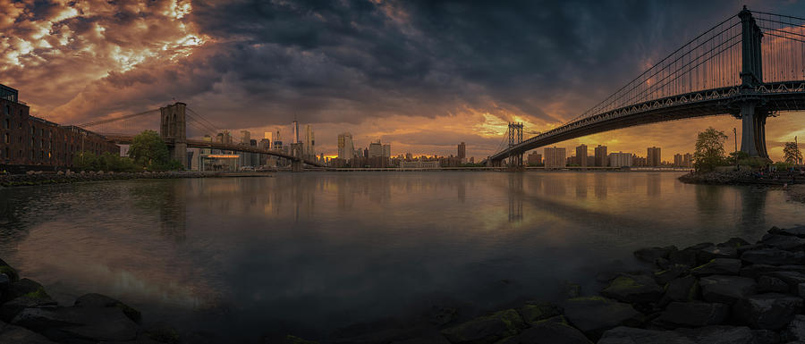 Between Bridges Photograph by David Mart?n Cast?n