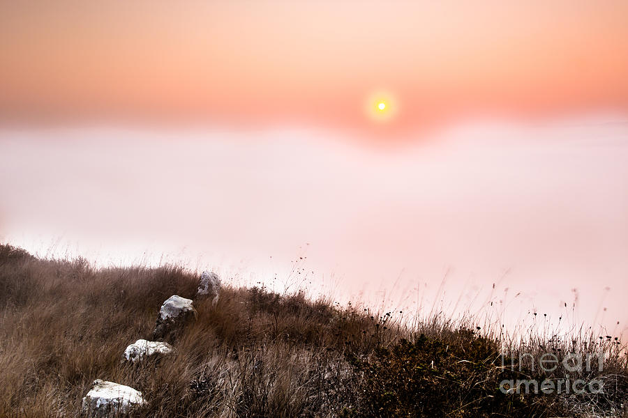 Sunrise Photograph - Between Rocks And The Sunrise by Edgar Laureano