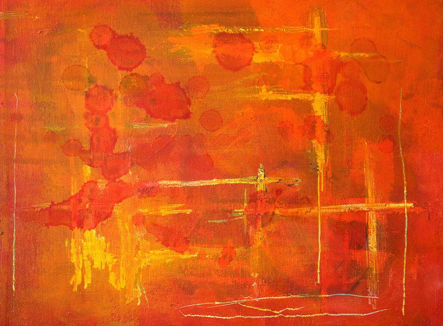 Lines Painting - Between The Lines by Nancy Merkle