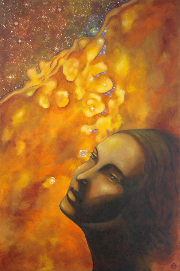 Divine Feminine Painting - Between The Worlds by Christina Gage