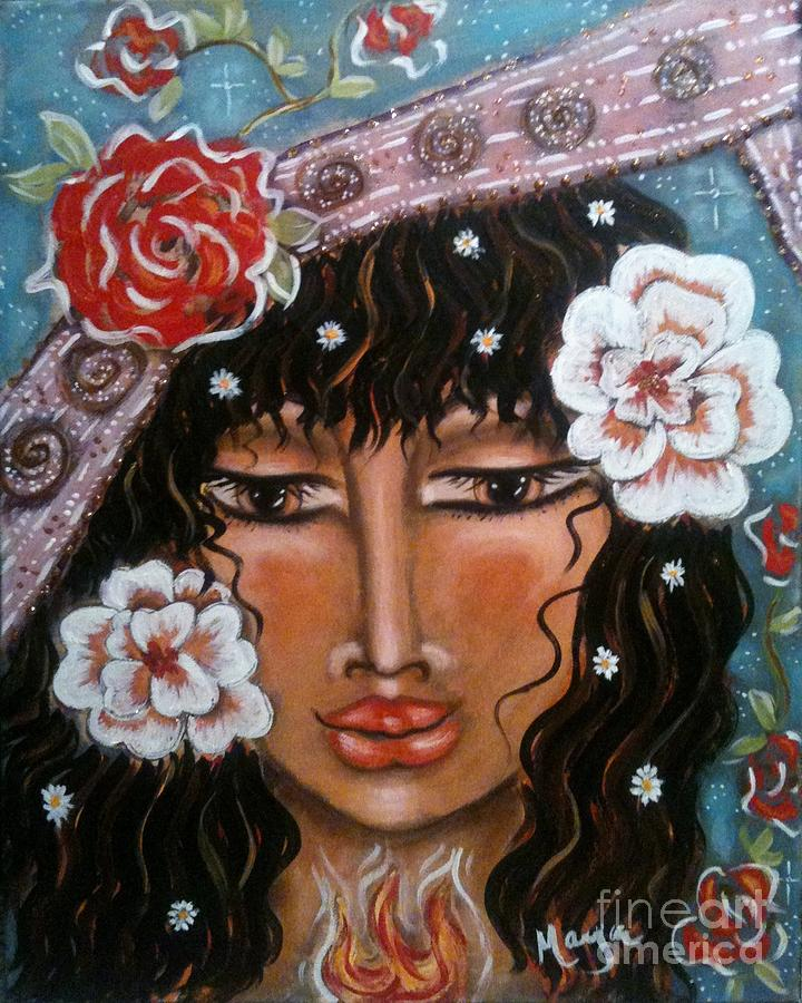 Contemporary Symbolism Painting - Between The Worlds by Maya Telford
