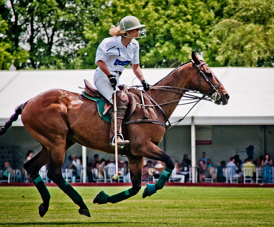 Polo Photograph - Bev Playing by Sherri Cavalier
