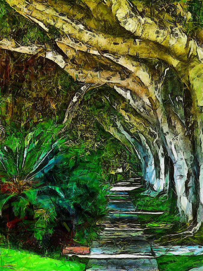Beverly Hills Digital Art - Beverly Hills Jungle by Cary Shapiro