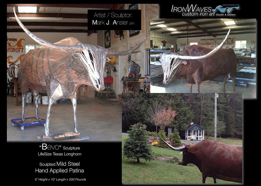 Brochure Sculpture - Bevo by Mark Ansier