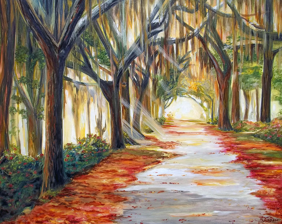 Path Painting - Bevs Path by Suzanne King