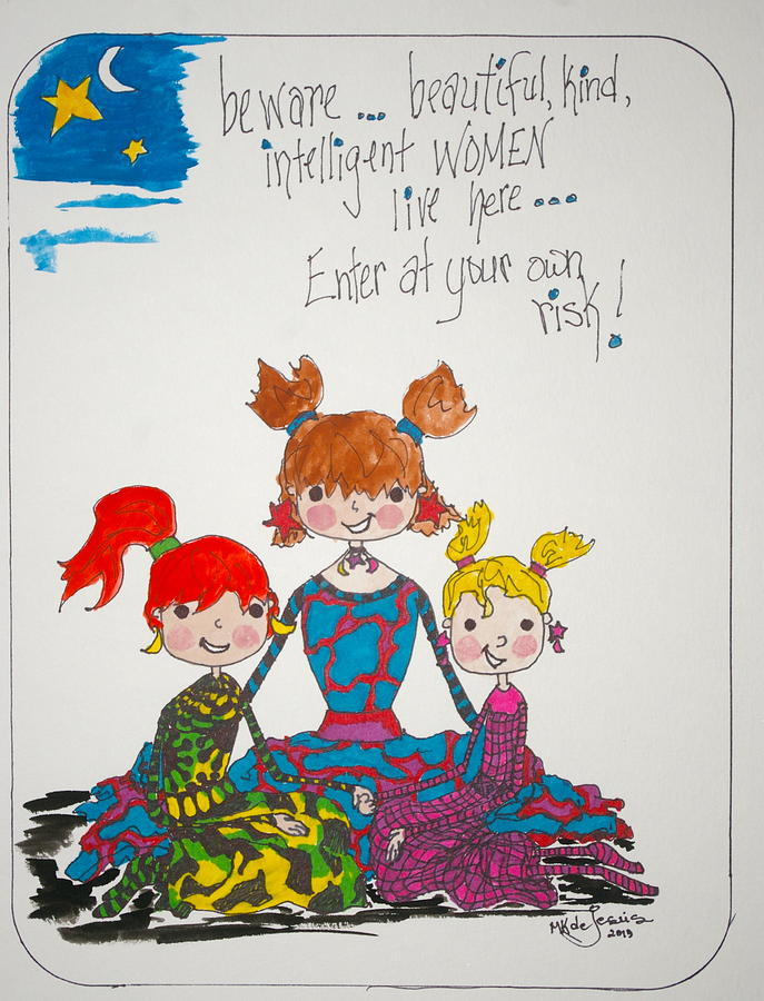 Women Drawing - Beware Beautiful Women by Mary Kay De Jesus