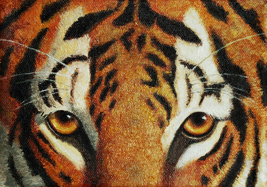 Tiger Painting - Beware by Crista Forest