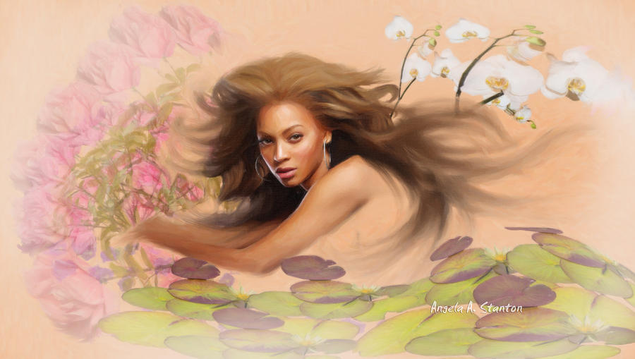 Beyonce Painting - Beyonces Dream by Angela A Stanton