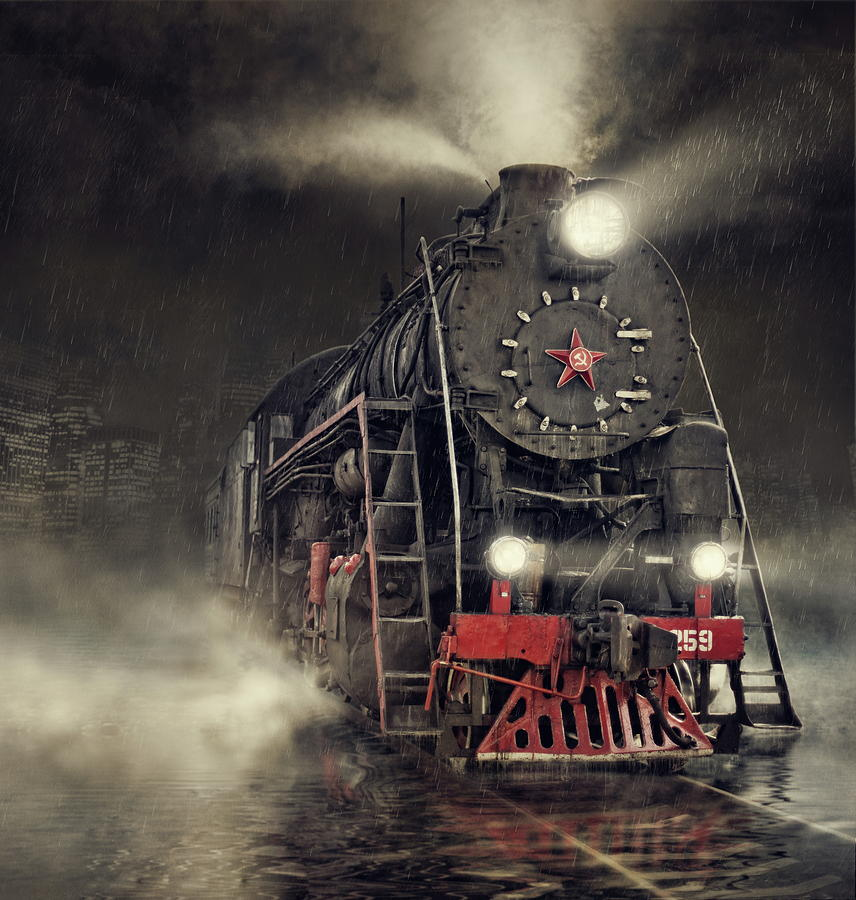 Train Photograph - Beyond Express by Dmitry Laudin