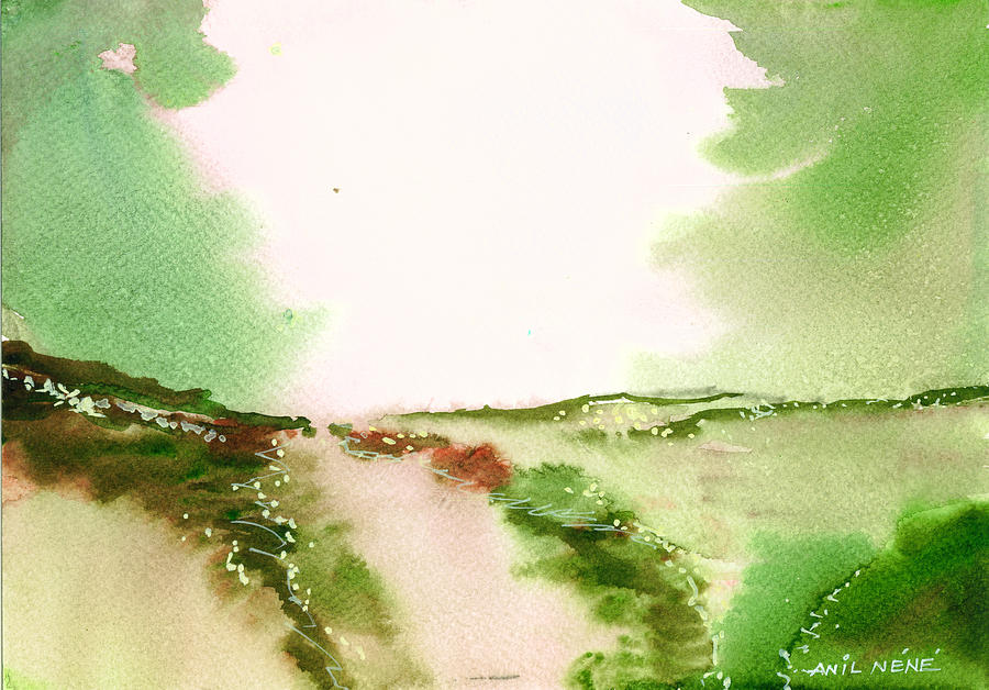 Nature Painting - Beyond Horizon 2 by Anil Nene