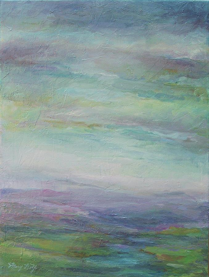 Landscape Painting - Beyond The Distant Hills by Mary Wolf