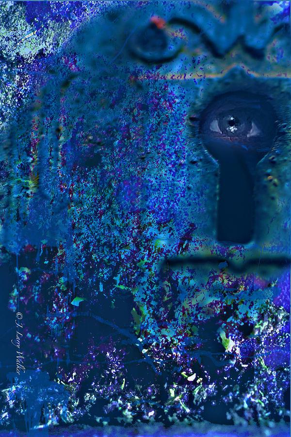 Macro Digital Art - Beyond The Door - Abstract by J Larry Walker