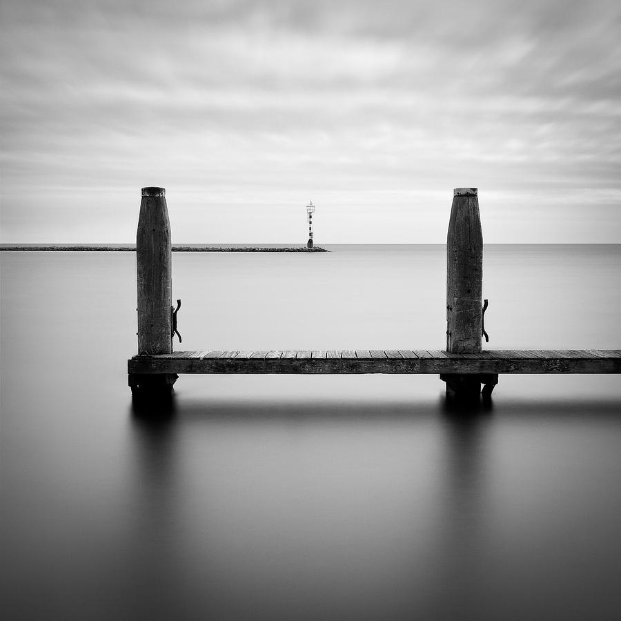 Boat Jetty Photograph - Beyond The Jetty by Dave Bowman