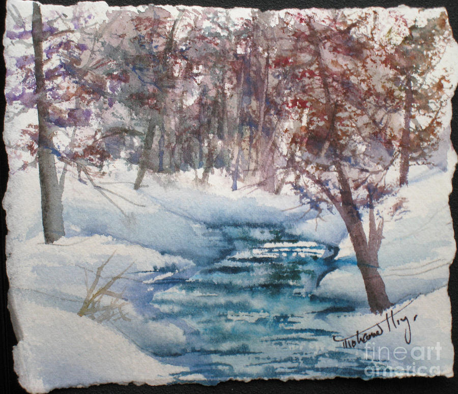 Creek Painting - Beyond The Pond by Mohamed Hirji