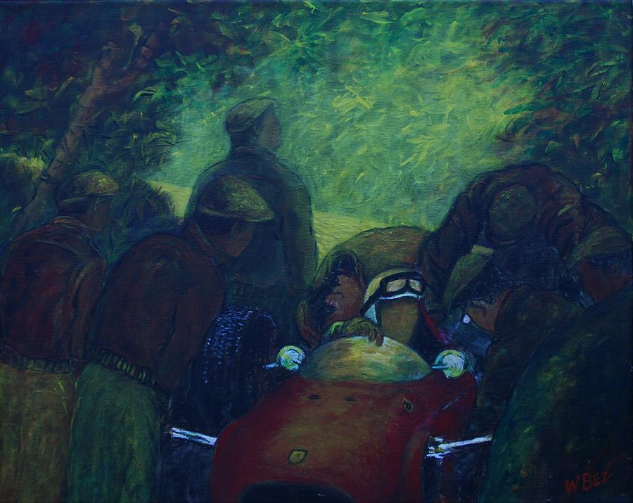 Race Cars Painting - Beyond The Race by William Bezik